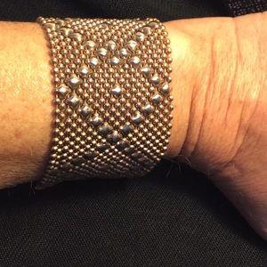 Sergio Gutierrez liquid gold bracelet (gold)